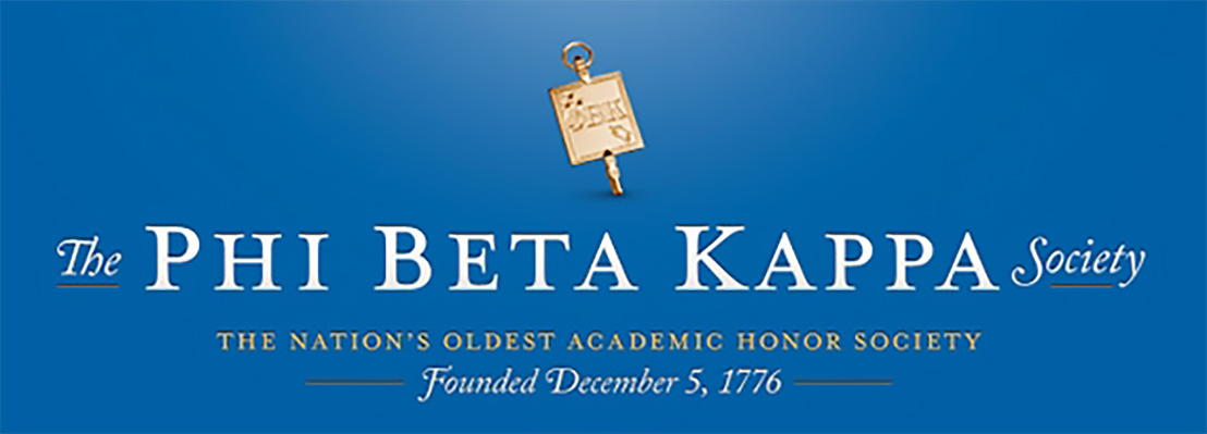 A blue banner for Phi Beta Kappa