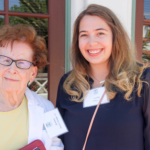Dunklee '62 with student, Sophie Fahey '17