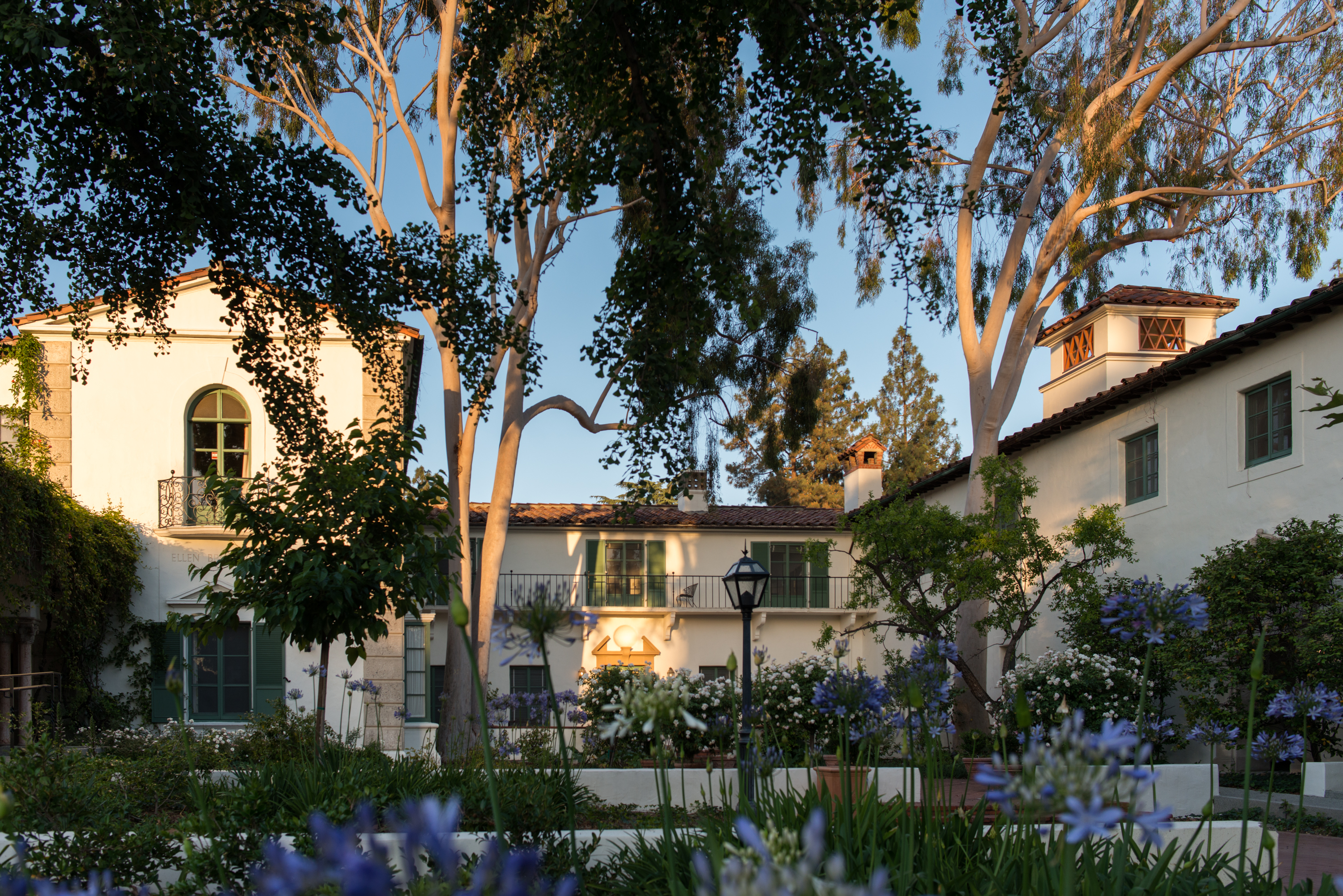 The outside of residence halls at Scripps College.
