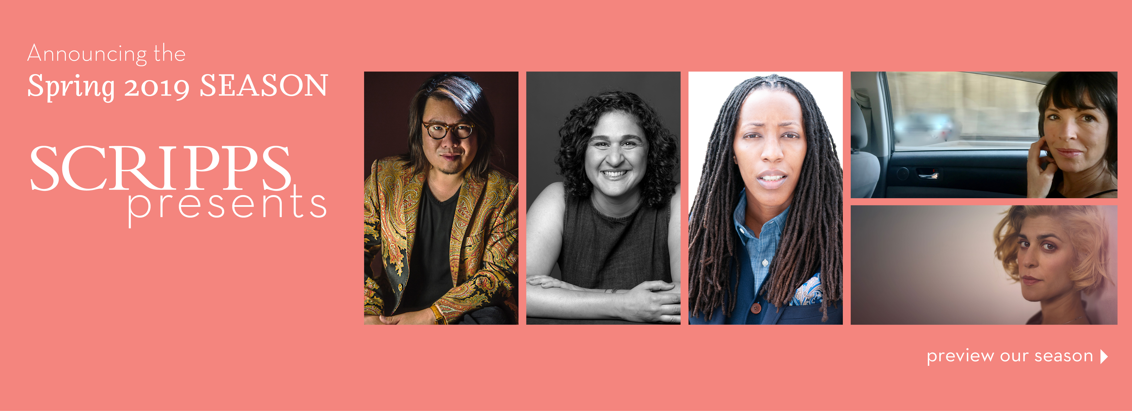 Scripps Presents: Spring 2019 Lineup Features the Best in Contemporary Thought and Performance