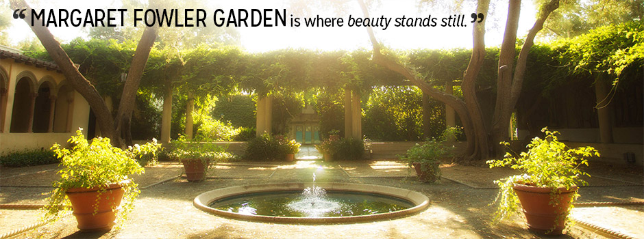 Margaret Fowler Garden is where beauty stands still.