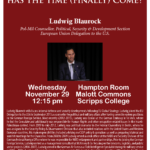 European Defense: Has the time (finally) come? Talk by Ludwig Blaurock