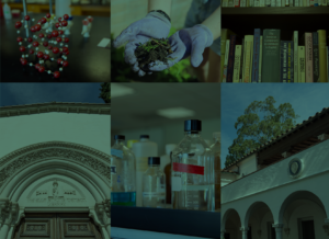 Composite grid of six images representing Scripps College and scientific research